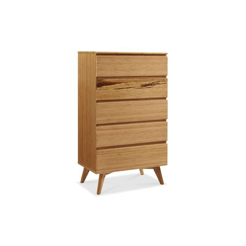 Product Image - Azara Five Drawer High Chest, Caramelized