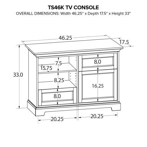TS46K Custom TV Console