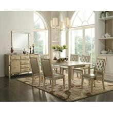 ACME Voeville Dining Table - 61000 - Antique Silver