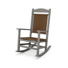 View Product - Presidential Woven Rocking Chair in Slate Grey / Tigerwood