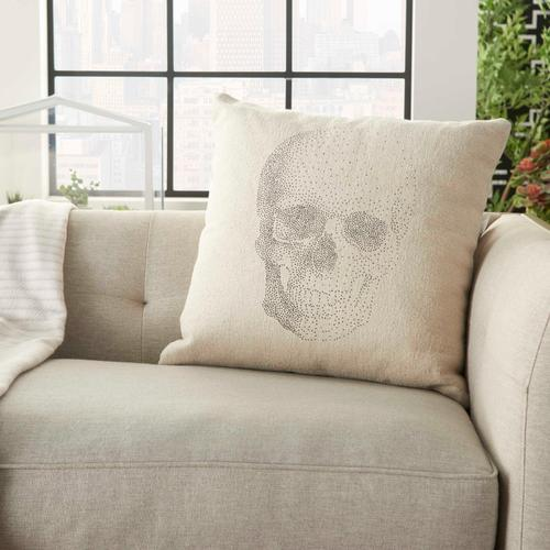 """Life Styles Dl510 Natural 20"""" X 20"""" Throw Pillow"""