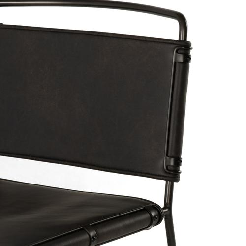 Counter Stool Size Distressed Black Cover Wharton Bar + Counter Stool