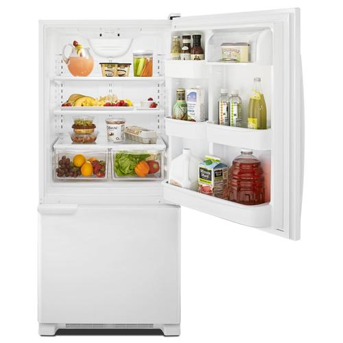 29-inch Wide Bottom-Freezer Refrigerator with Garden Fresh Crisper Bins -- 18 cu. ft. Capacity White