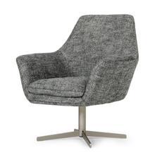 View Product - Divani Casa Elvin - Modern Dark Grey Fabric Swivel Lounge Chair