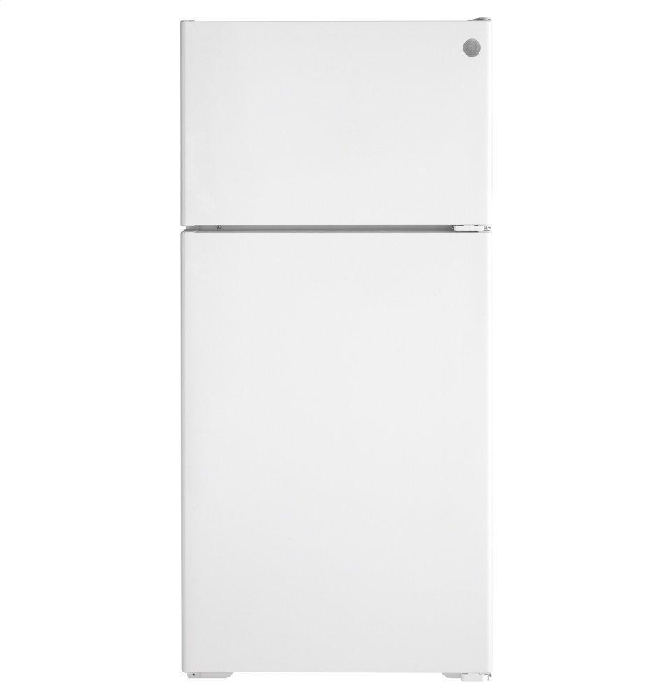 GEEnergy Star® 16.6 Cu. Ft. Recessed Handle Top-Freezer Refrigerator