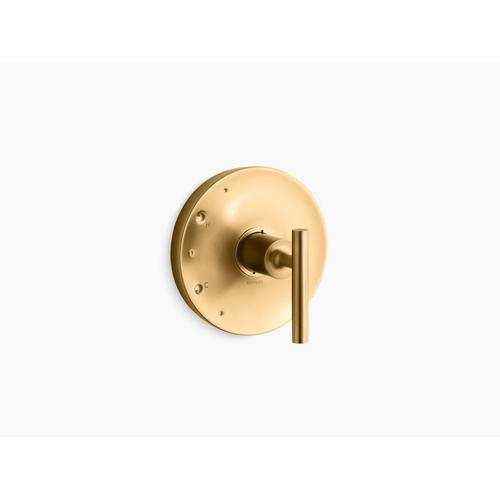 Kohler - Vibrant Brushed Moderne Brass Rite-temp Valve Trim With Lever Handle