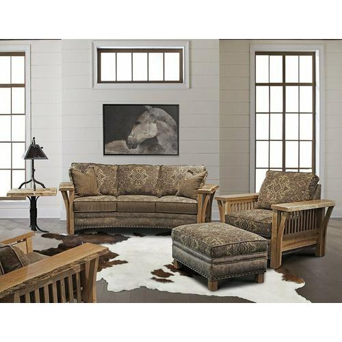 Rustic Edge Conversation Sofa