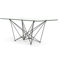 Diamond Rectangular Glass Top Dining Table