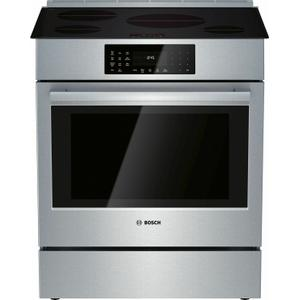 Bosch800 Series Induction Slide-in Range 30'' Stainless Steel HII8056U