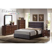 Darcey Courtney King Bed Brown (*Full Assembly Dimension*