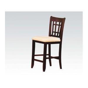 "Dark Walnut 30""h Bar Chair"