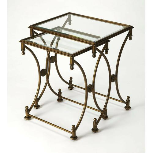 Nested tables are an excellent way to add serving space while saving it at the same time. That convenience, coupled with elegant styling, make these traditional nesting tables a great addition to a living room, bedroom or sitting area. Each table features