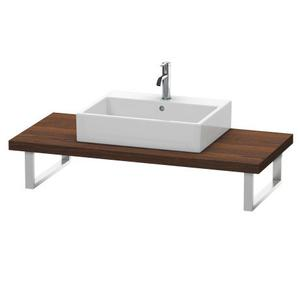 Console For Above-counter Basin And Vanity Basin, Brushed Walnut (real Wood Veneer)
