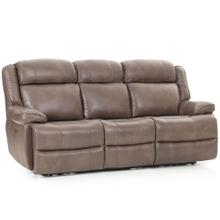 Avalon Dual Power Reclining Sofa  Leather Latte