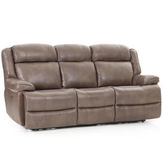 Avalon Dual Power Reclining Sofa  Leather Latte