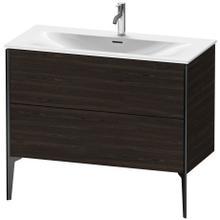 View Product - Vanity Unit Floorstanding, Brushed Walnut (real Wood Veneer)