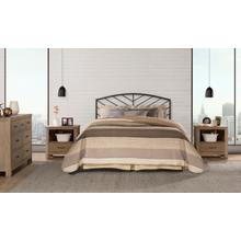 Hillsdale Furniture Essex Full Metal Headboard, Metallic Brown