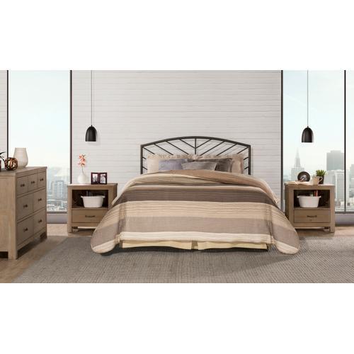 Hillsdale Furniture Essex Full Metal Headboard, Metallic Brown