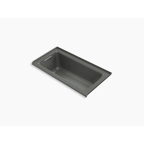 """Thunder Grey 60"""" X 30"""" Alcove Bath With Integral Flange and Left-hand Drain"""