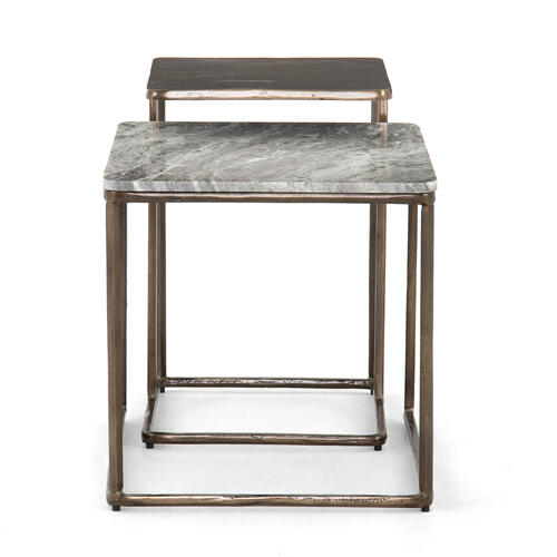 River Grey Finish Jewel Nesting End Table