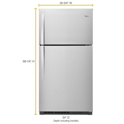 Whirlpool - 33-inch Wide Top Freezer Refrigerator - 21 cu. ft.