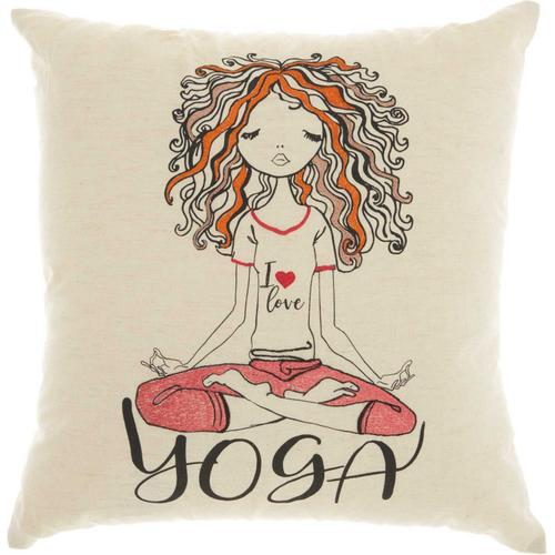 """Trendy, Hip, New-age Rn002 Natural 18"""" X 18"""" Throw Pillow"""