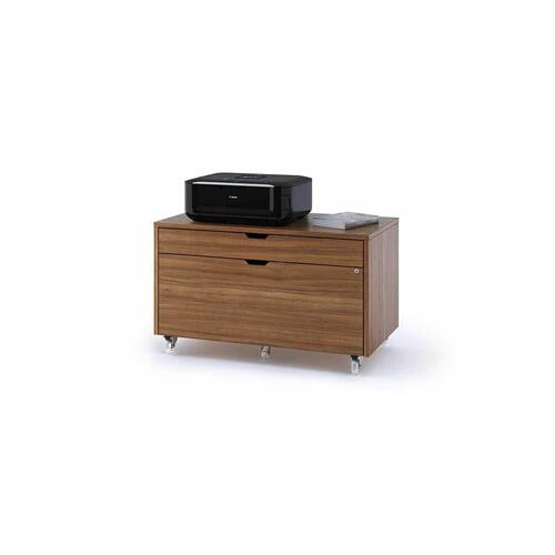 Mobile File Pedestal 6347 in Natural Walnut