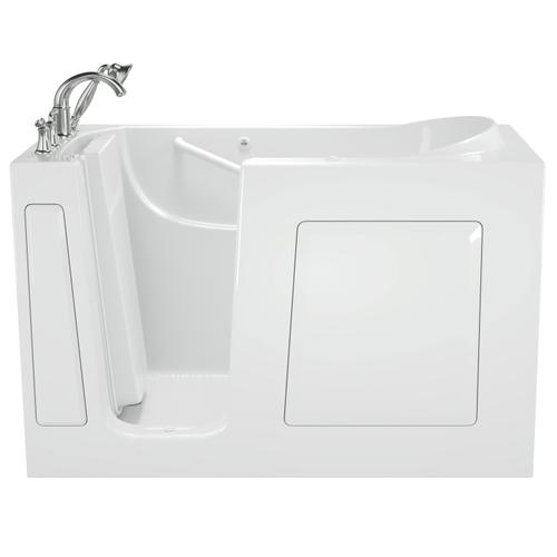 Gelcoat Value Series 30 x 60 Inch Walk-in Tub with Whirlpool System  Left Drain  American Standard - White
