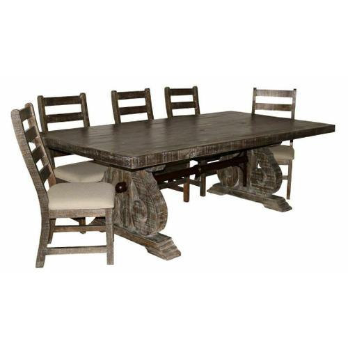Million Dollar Rustic - Savannah Barnwood Dining Set