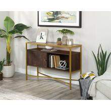 View Product - Contemporary Glass-Top Accent Storage Table