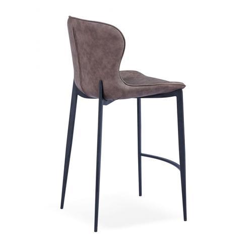 VIG Furniture - Modrest Felicia - Modern Brown & Black Bar Stool (Set of 2)