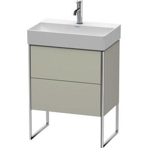 Vanity Unit Floorstanding Compact, Taupe Satin Matte (lacquer)
