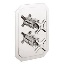 See Details - Waldorf 2500 Thermostatic Valve Trim with Integrated Volume Control/Three-way Diverter and Cross Handles - Polished Chrome