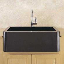 "See Details - Polished & Honed Front Farmhouse Sinks 33"" Width / Black Granite"