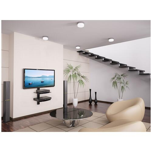 Dual AV Wall Shelf with Glass