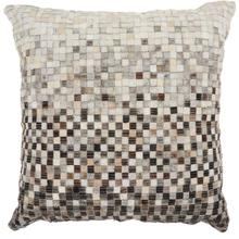 "Natural Leather Hide S4288 Grey 20"" X 20"" Throw Pillow"