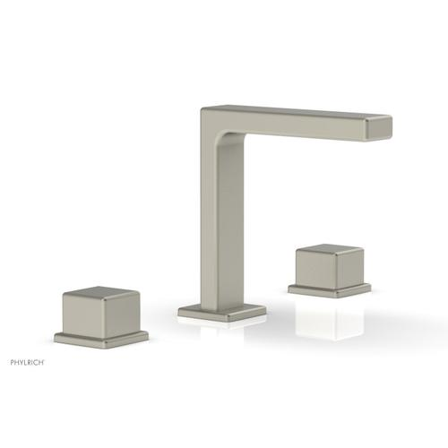 """MIX Widespread Faucet - Cube Handles 6-3/4"""" Height 290-04 - Burnished Nickel"""