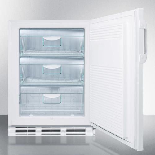 "ADA Compliant 24"" Wide All-freezer for Freestanding Use Capable of -25 C Operation; Includes Audible Alarm, Lock, and Hospital Grade Plug"