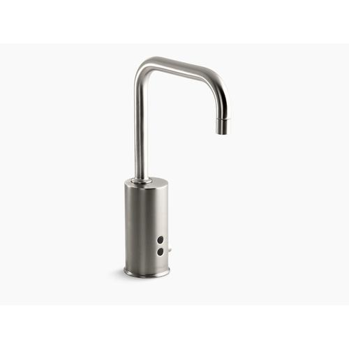 Vibrant Stainless Touchless Faucet With Insight Technology and Temperature Mixer, Hybrid-powered