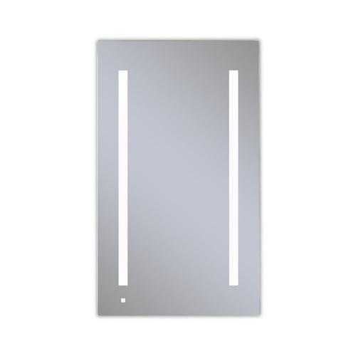 """Aio 23-1/4"""" X 40"""" X 4"""" Single Door Lighted Cabinet With Lum LED Lighting In Bright White (4000k), Dimmable, Built-in Om Audio, Interior Lighting, Electrical Outlet, Usb Charging Ports, Magnetic Storage Strip and Right Hinge"""