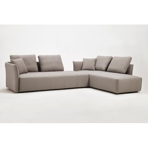 VIG Furniture - Divani Casa - Polson Modern Light Grey Fabric Modular Sectional Sofa Bed