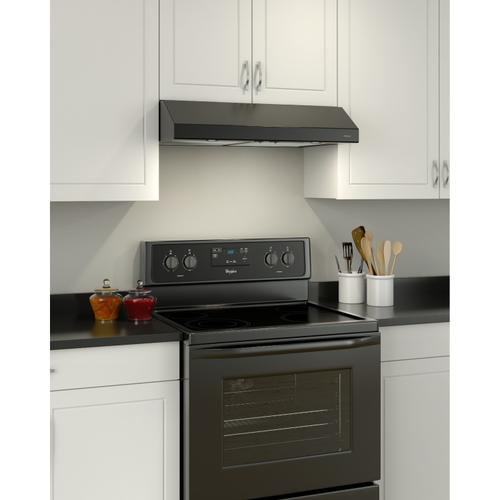 Broan® 30-Inch Convertible Under-Cabinet Range Hood, Black