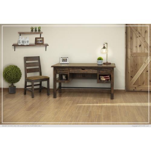 Gallery - 3 Drawer Desk & 2 Shelves Desk