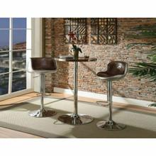 ACME Brancaster Bar Table - 70425 - Retro Brown TGL & Aluminum