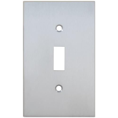 Single Modern Switchplate in (US26D Satin Chrome Plated)