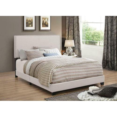 Boyd Upholstered Ivory King Bed