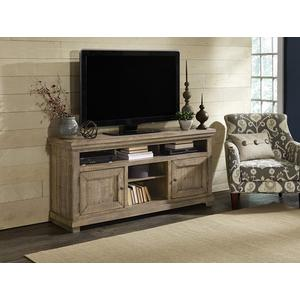 64 Inch Console - Weathered Gray Finish