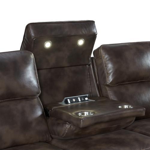 Silhouette Dual-Power Sofa  Bolero Coffee