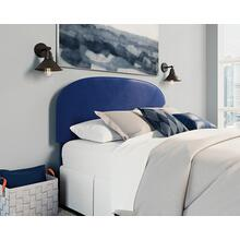 Queen Size Velvet Headboard in Dark Navy