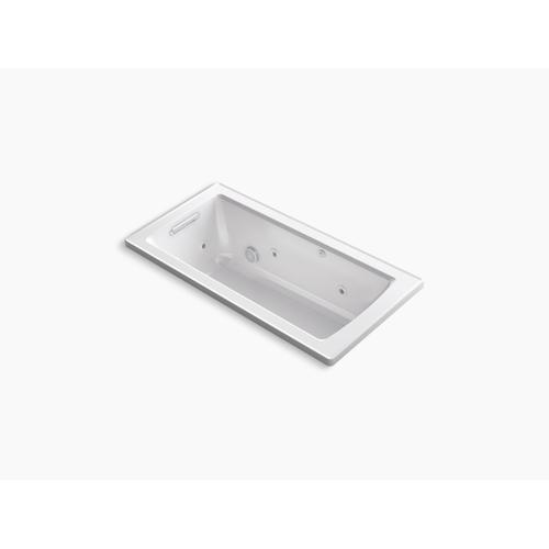 "Thunder Grey 60"" X 30"" Drop-in Whirlpool Bath With Bask Heated Surface"